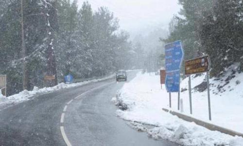 Летом выпал снег на Кипре