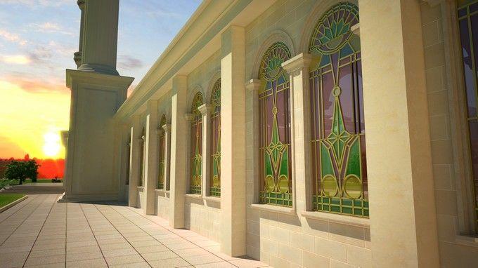 Завершено строительство купола крупнейшей мечети ТРСК