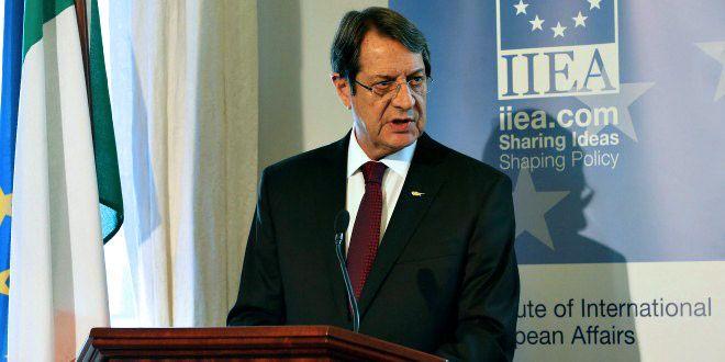 Анастасиадис готовит речь для ООН