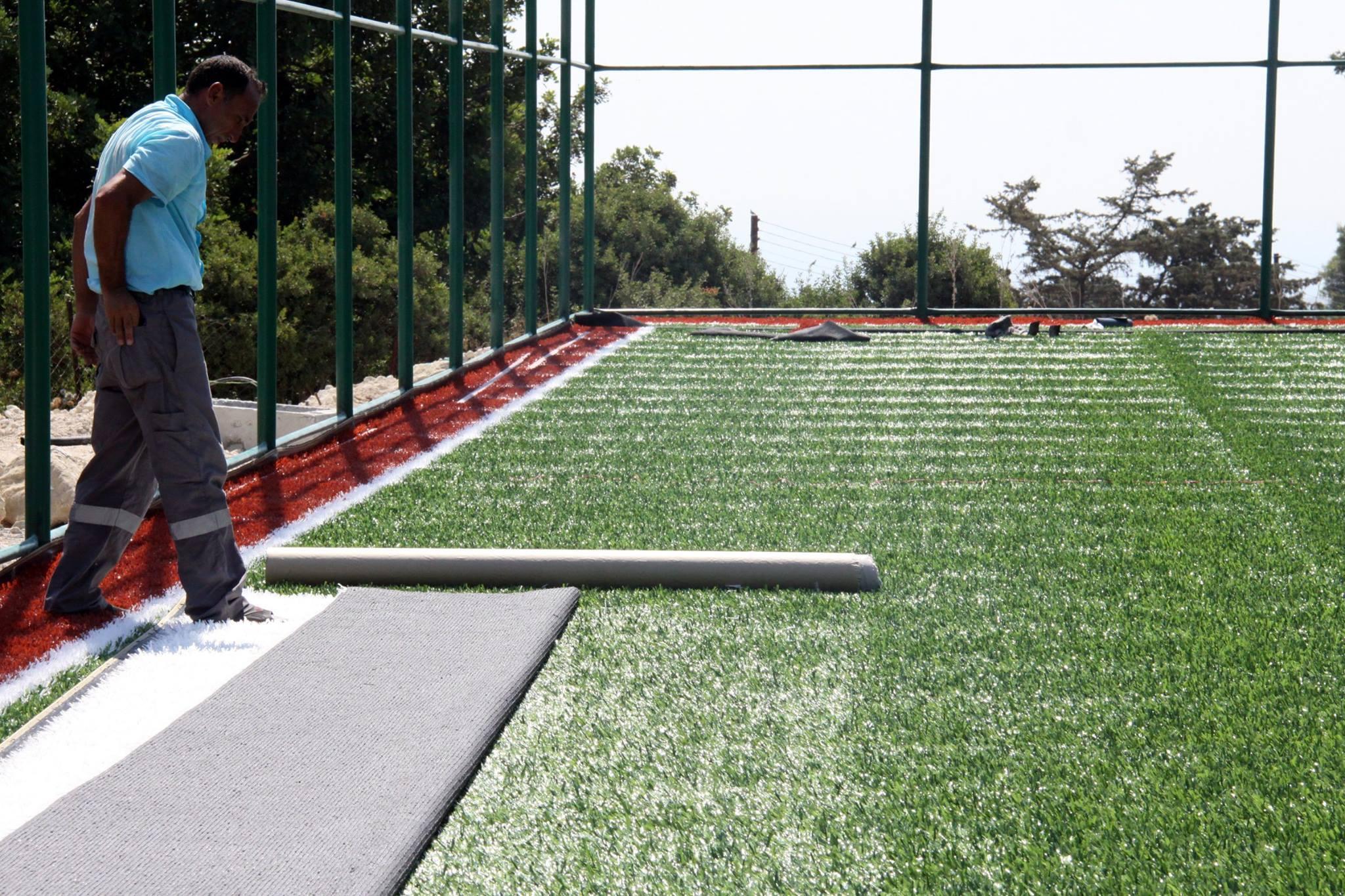 Новое спортивное поле в Искеле