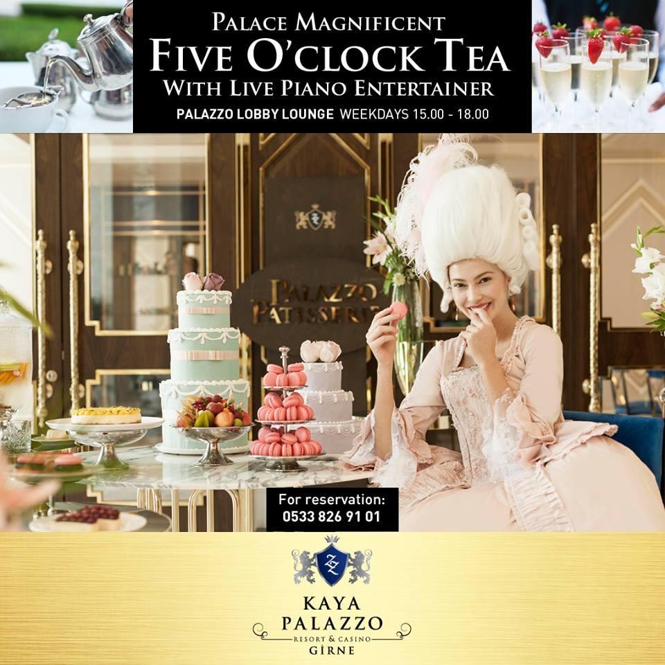 Afternoon tea в Kaya Palazzo Hotels & Resorts