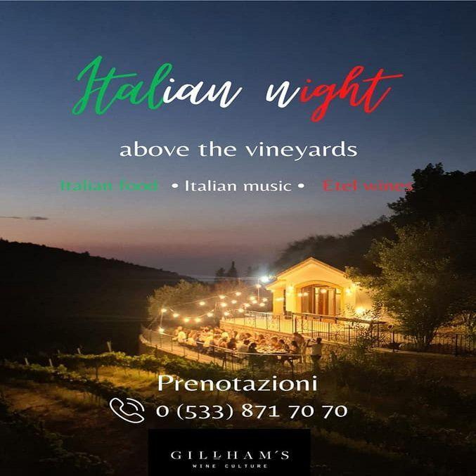 «Итальянская ночь» в Gillham Vineyard