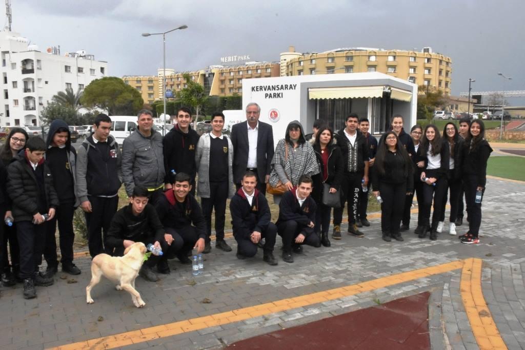 Озеленение Кирении продолжается  вместе с учениками школ