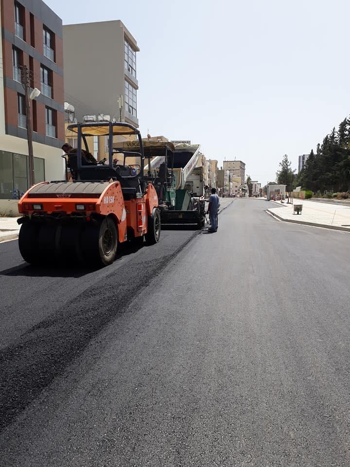 В Фамагусте ремонтируют дороги