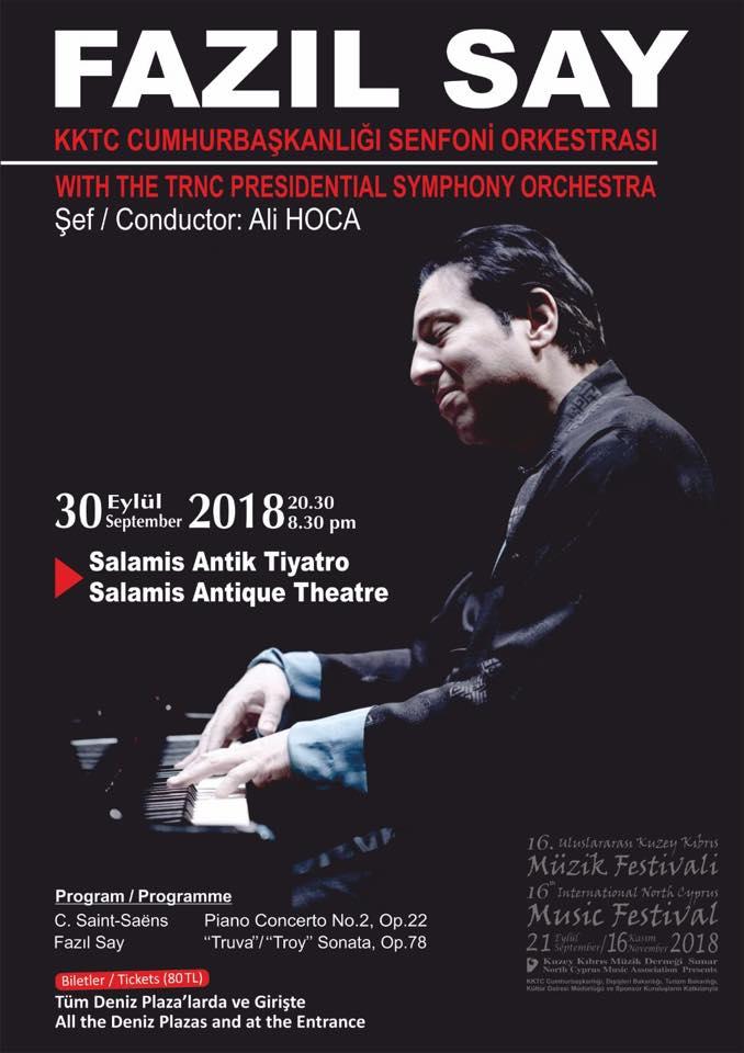 Музыкальный концерт Fazıl Say в Саламисе