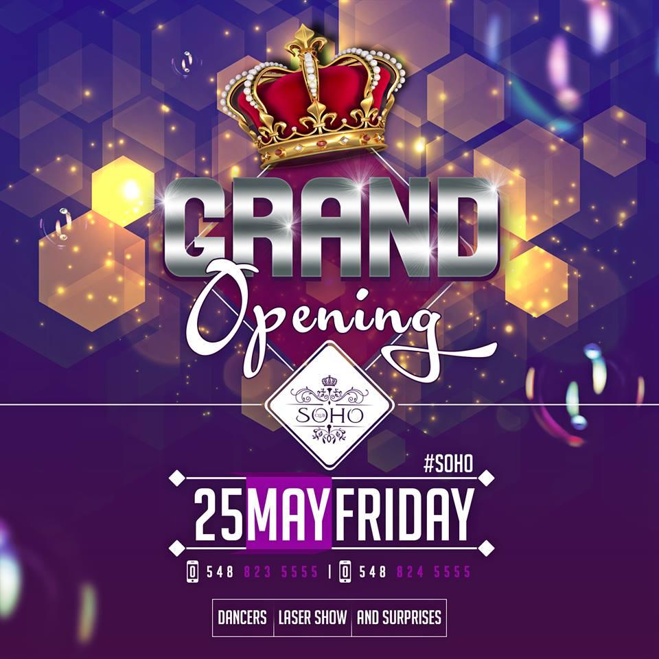 Grand Opening  в Club SOHO