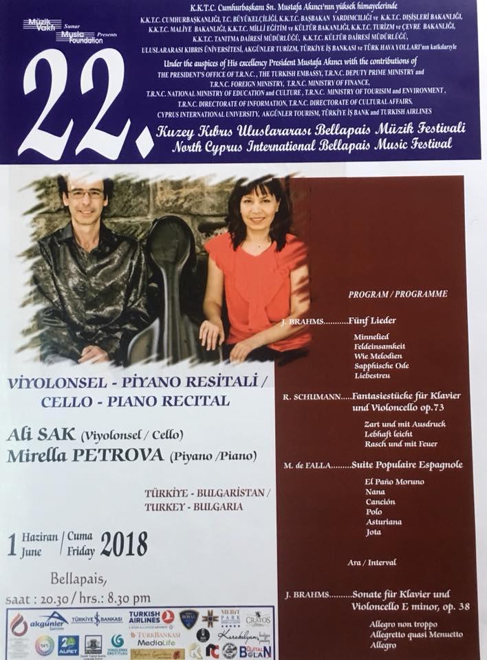 Концерт живой музыки Cello-Piano Recital