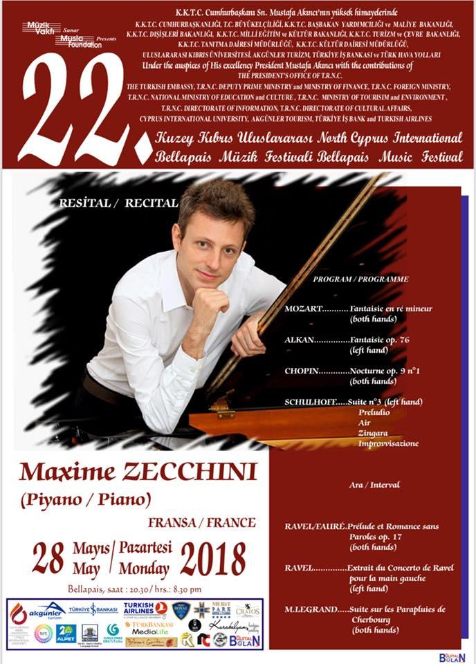Концерт живой музыки Maxime ZECCHINI в Аббатстве Беллапаис