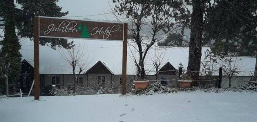 В горы Кипра пришла зима