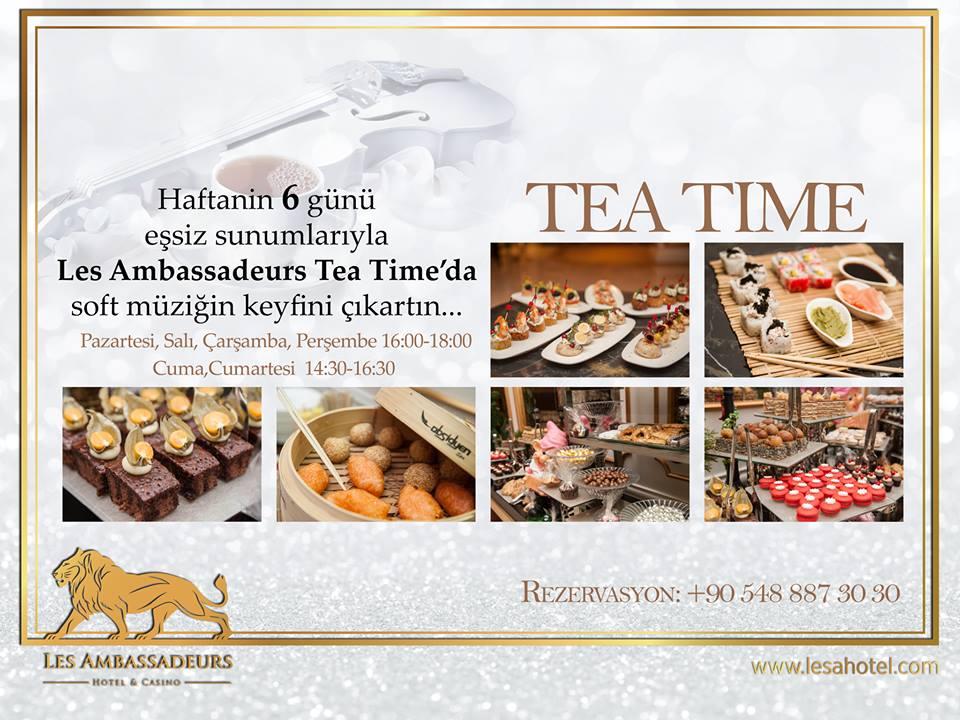 """Tea Time в отеле """"Les Ambassadeurs Hotel & Casino"""""""