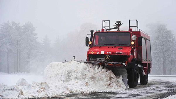 Пришла зима на Кипр! Горные дороги перекрыты!