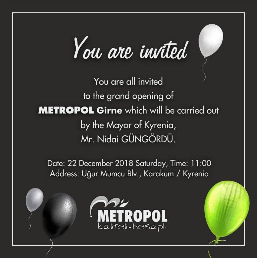 Все приглашаются на открытие магазина METROPOL