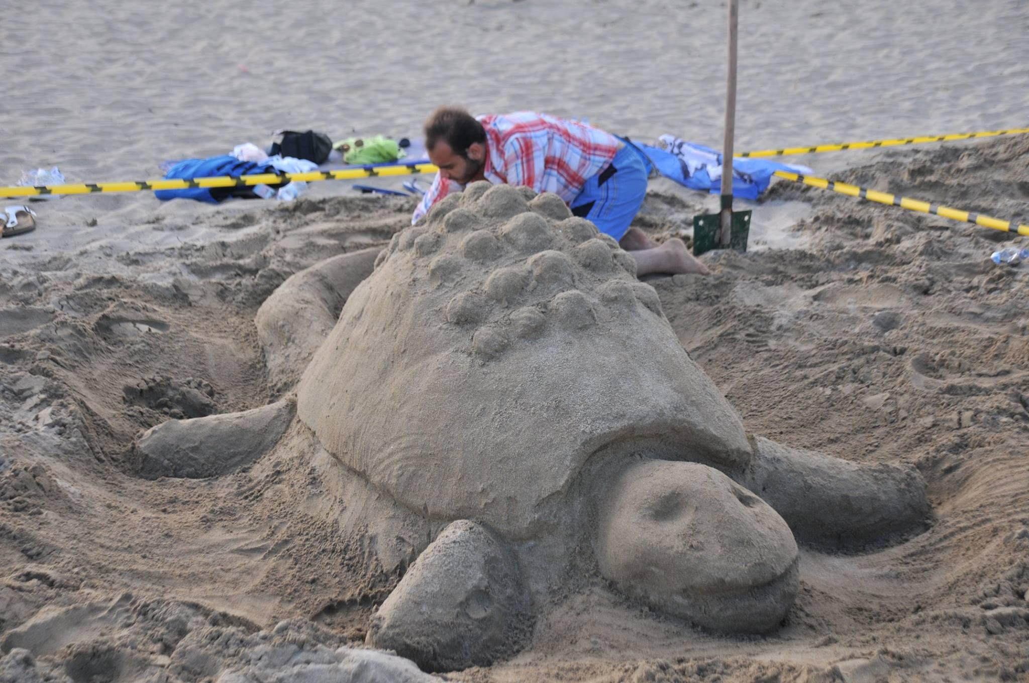 В Фамагусте прошел фестиваль песчаных скульптур