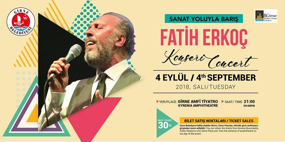 Дни культуры и искусства в Кирении продолжаются с Fatih Erkoç